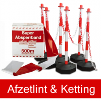 Afzetlint en kettingen