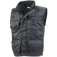 Bodywarmer Workman Luxe multipocket zwart