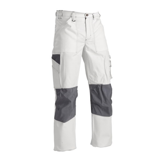 Werkbroek Blaklader 1091 wit met kniezakken