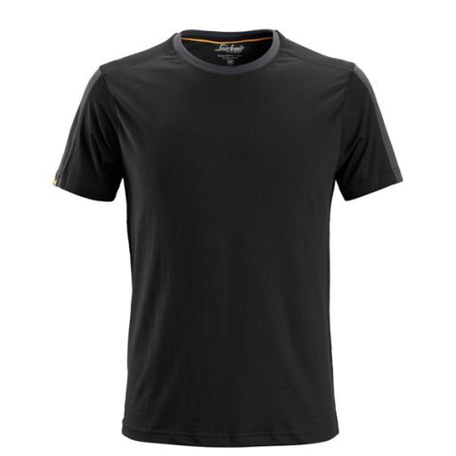 T-shirt Snickers 2518 Allround Work 160gr/m2 zwart-staalgrijs