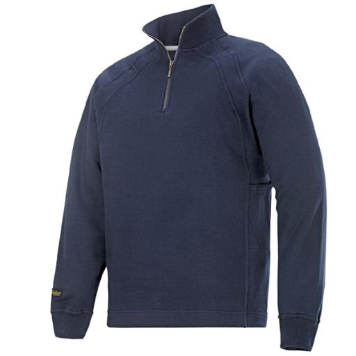 Sweater Snickers 2813 multipockets ritskraag navy blauw