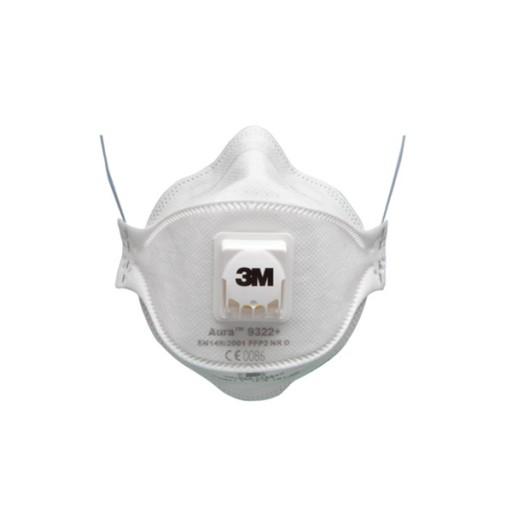 Stofmasker 3M 9322 Aura ventiel FFP2, 10 stuks