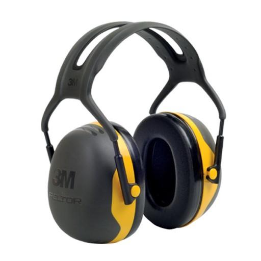 Gehoorkap 3M Peltor X2A Hoofdbeugel, Zwart met geel