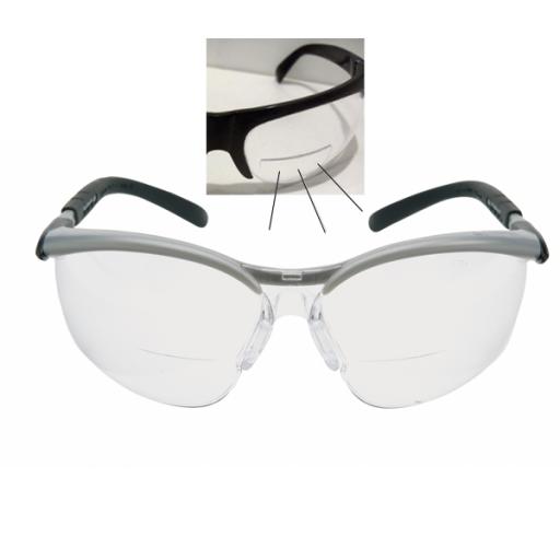 Veiligheidsbril 3M Bx reader met leesvenster op sterkte | + 1.5