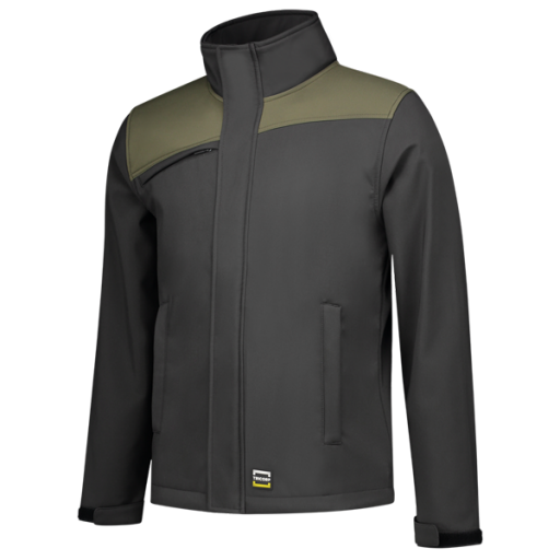Softshell Jas Tricorp 402021 schuine naad Grijs-Army