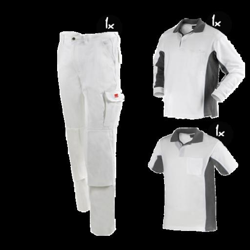 Kledingpakket Workman Afbouw wit met grijs basic