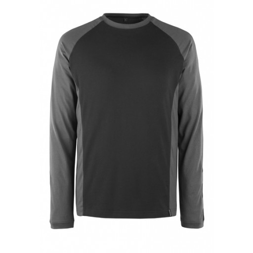 T-shirt Mascot Bielefeld lange mouw bi-colour zwart/grijs
