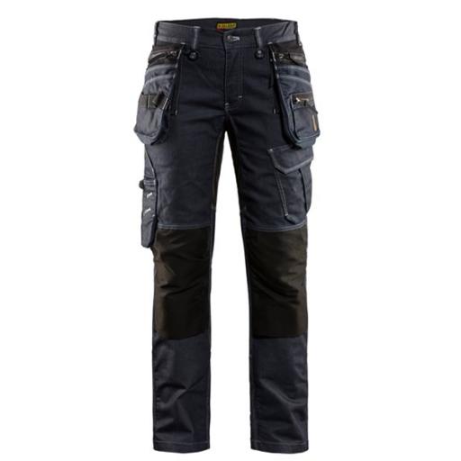 Dames werkbroek Jeans Blaklader X1900 stretch denim /zwart