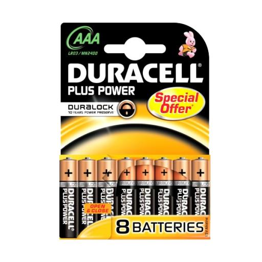 Batterijen Duracell Plus Power MN 2400 AAA  - 8 PACK