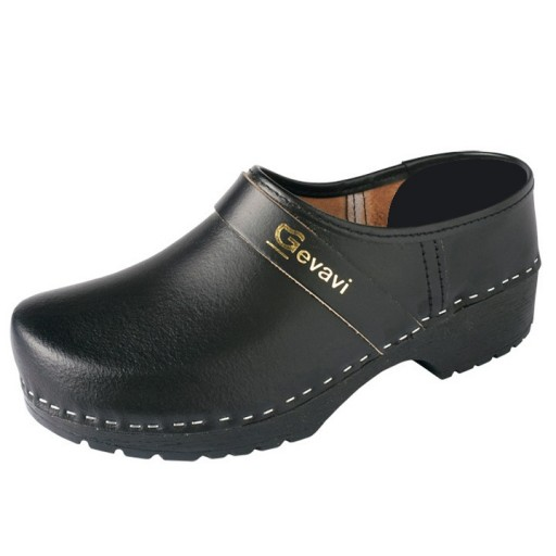 Schoenklompen GEVAVI - 1550-00 PU - zwart - onbeveligd