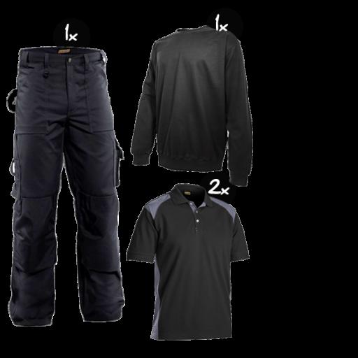 Kledingpakket Blaklader worker Zwart met grijs ( Basic pakket)