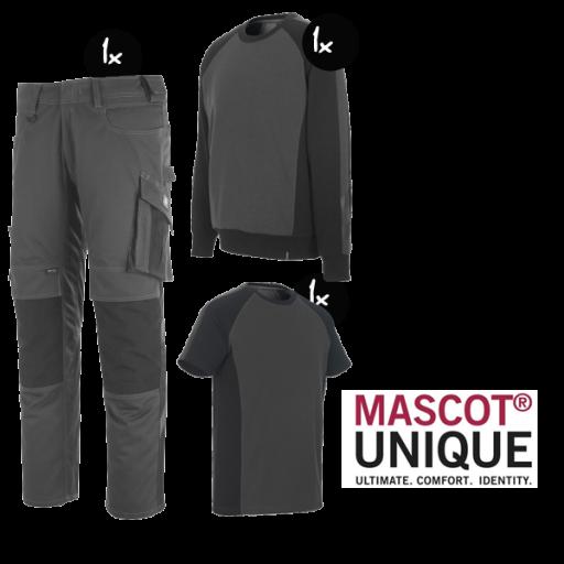 Kledingpakket Mascot Unique grijs met zwart budget
