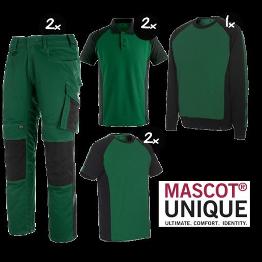 Kledingpakket Mascot Unique Groen met Zwart ( Premium pakket)