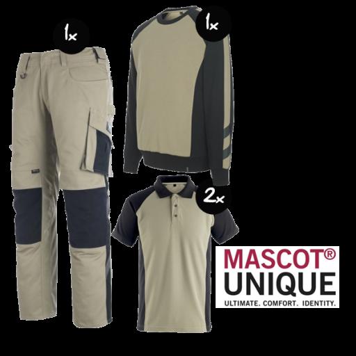 Kledingpakket Mascot Unique Khaki met Zwart ( Basic pakket)