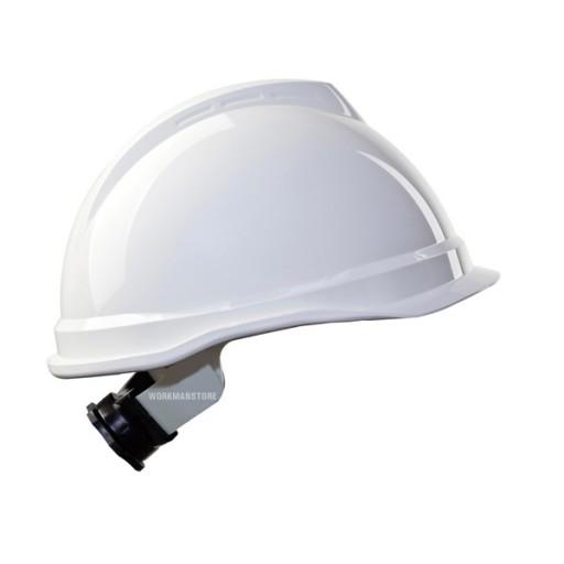 Veiligheidshelm MSA V-gard 520 Fas-Trac korte klep   Wit