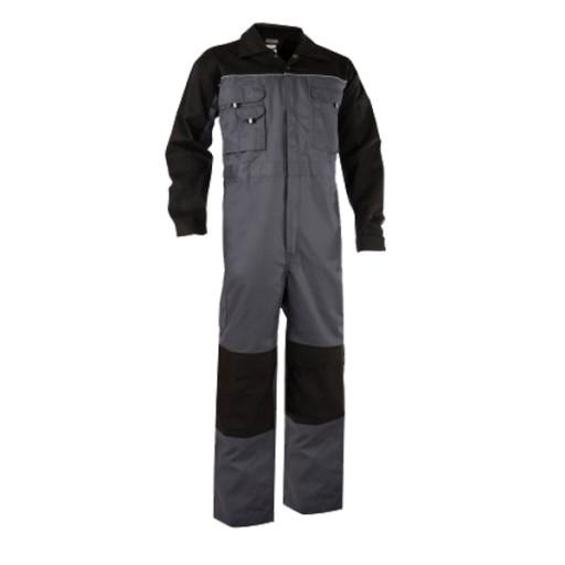 Overall Dassy Cannes Bi-colour met Kniezakken | Grijs met zwart