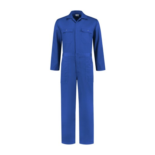 Overall workmanstore.nl drukknoop polyester/katoen 260gr/m2 korenblauw 1