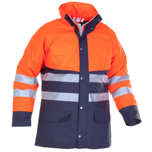 Parka Hydrowear Plains EN 471 gevoerd oranje - blauw