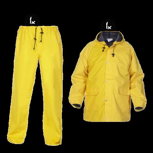 Regenkleding set Hydrowear simply no sweat geel ( Basic pakket)