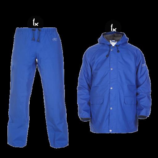Regenkleding set Hydrowear simply no sweat korenblauw ( Basic pakket)