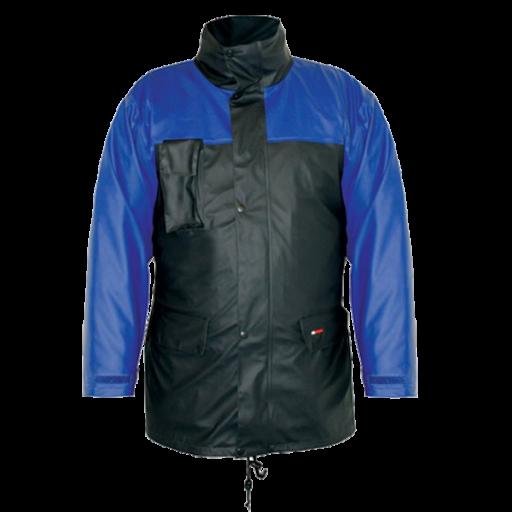 Regenparka M-wear premium 5270 Warura gevoerd navy met korenblauw