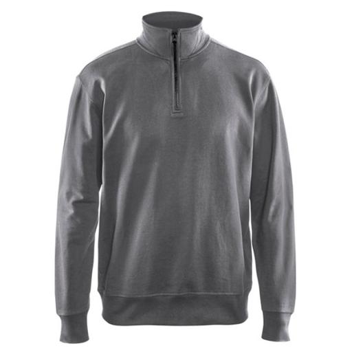 Sweater Blaklader 3369 met rits in kraag grijs