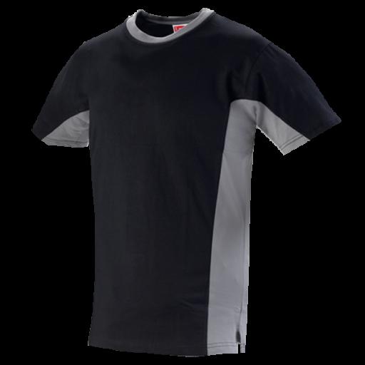 Tshirt Workman Bi-colour 190gr/m2 100% katoen zwart/grijs