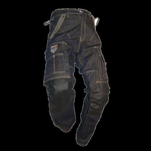 Jeans Beckum Workwear EBT14 met kevlar kniestukken demim.