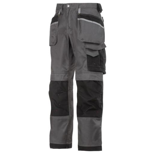 Werkbroek Snickers 3212 holsterzakken Bicolour grijs/zwart