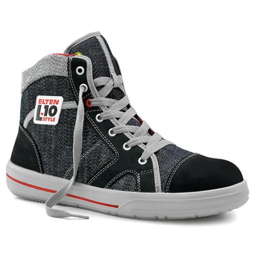 Werkschoenen Elten Sensation S2 ESD Mid zwart met grijs