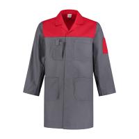 Stofjas Best4Work WMS.NL 2 kleurig 100% kat.grijs met rood