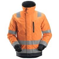 Jack Snickers 1130 Allroundwork High-Vis 37.5 iso Fluor oranje met Staalgrijs