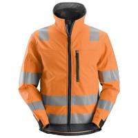 Softshelljas Snickers 1230 high visibility EN471 CL.3 oranje-grijs