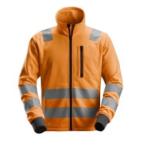 Sweatjack Snickers 8036 high visibility EN471 CL.2-3 Fluor oranje