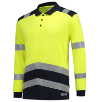 Poloshirt Tricorp 203003 multinormen fluor geel met blauw