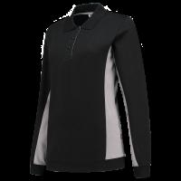 Dames polosweater Tricorp 302002 Bi-colour zwart/grijs