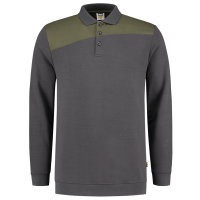 Polosweater Tricorp 302004 schuine naden army-grijs