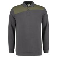 Polosweater Tricorp 302004 schuine naden army-grijs