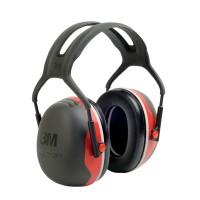 Gehoorkap 3M Peltor X3A met hoofdbeugel, Zwart met Rood