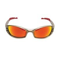 Veiligheidsbril 3M Fuel Goudkleurig montuur met rode lens (71502-00003)