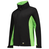 Dames softshell jas Tricorp 402008 zwart met lime