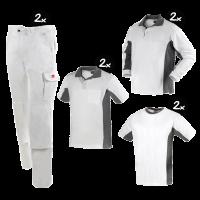 Kledingpakket Workman Afbouw wit met grijs premium