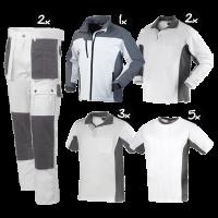 Kledingpakket Workman Afbouw II wit met grijs luxury