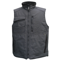 Bodywarmer Dassy Wayne met fleece voering grijs/zwart