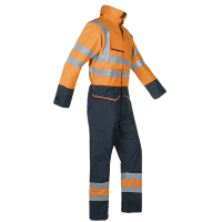 Overall Sioen Carret 7253 multinormen - gevoerd Oranje/blauw