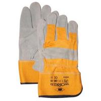 Handschoenen Msafe A-kwaliteit splitleder, zware kwaliteit, 12 paar