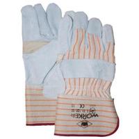 Handschoenen Msafe A-kwaliteit splitleder + palmversterking, 12 pr