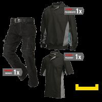 Kledingpakket Tricorp Zwart met grijs ( Basic pakket)