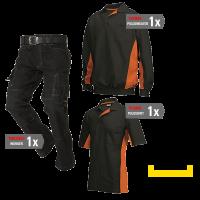 Kledingpakket Tricorp Zwart met oranje ( Basic pakket)
