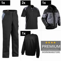 Kledingpakket Blaklader Service industry Zwart met grijs (Premium )